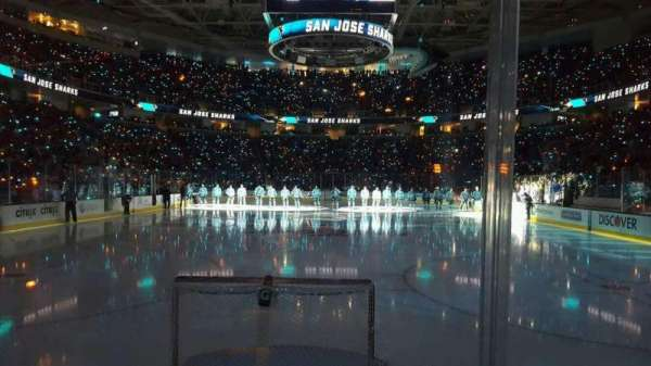 SAP Center, section: 107, row: 2, seat: 14