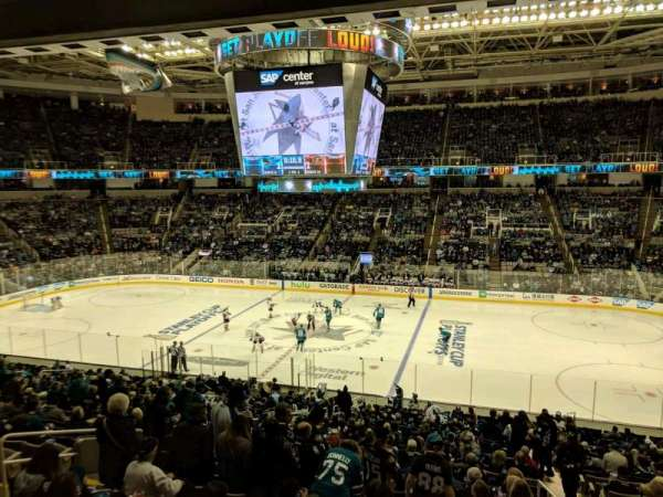 SAP Center at San Jose, section: C10, row: 1, seat: 10