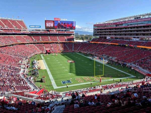 Levi's Stadium, section: NTC16, row: 1, seat: 1