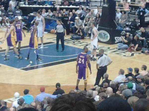 Target Center, section: 111, row: P, seat: 5