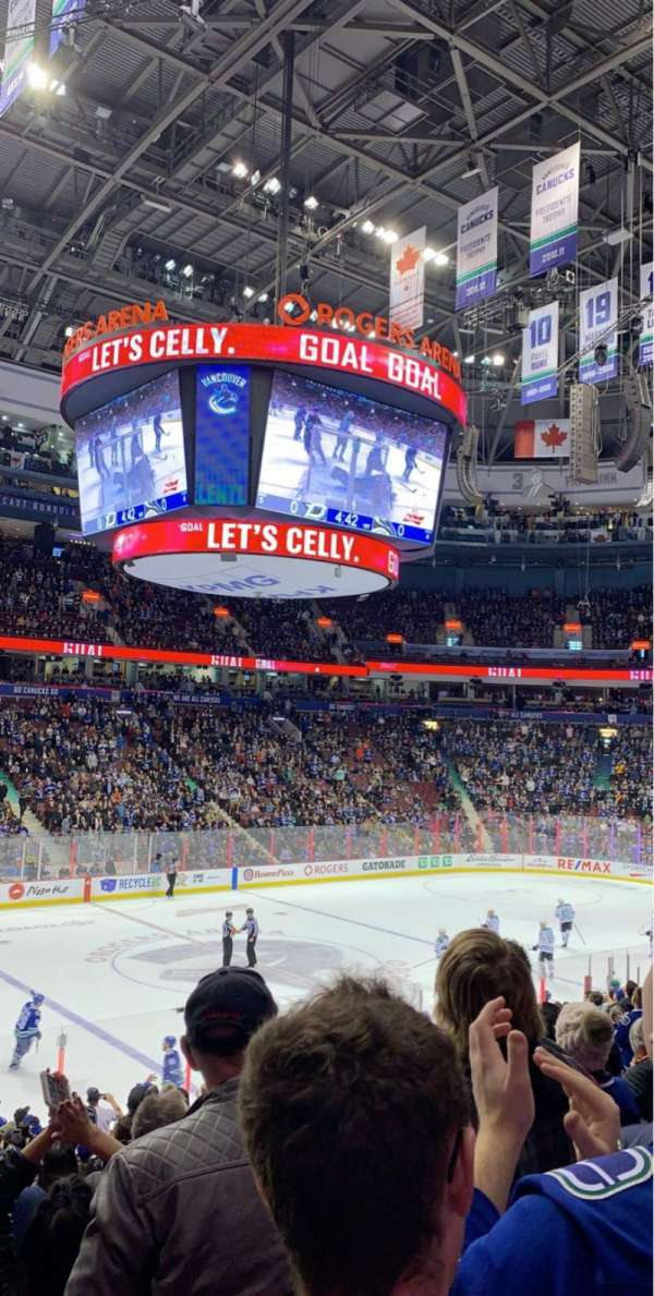 Rogers Arena, section: 119, row: 19, seat: 8