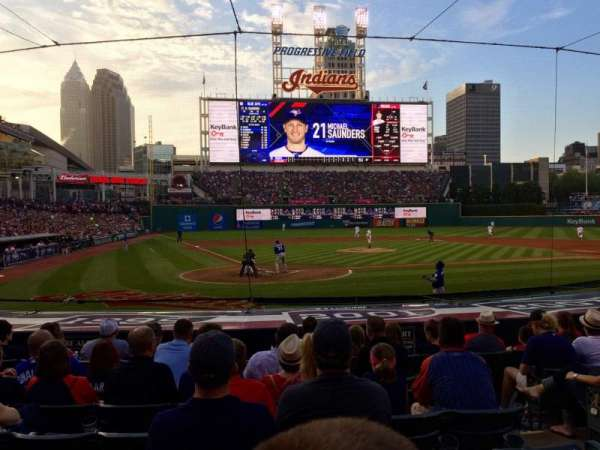 Progressive Field, section: 151, row: N, seat: 4