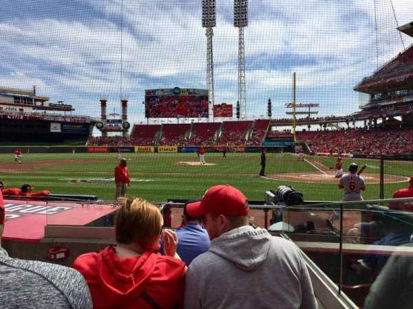 Great American Ball Park, section: 119, row: I, seat: 1