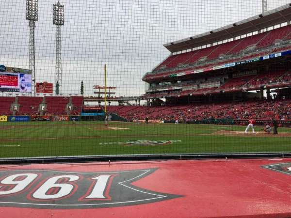Great American Ball Park, section: 117, row: G, seat: 13