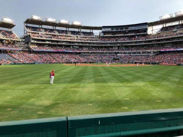 Nationals Park, section: 100, row: A, seat: 16