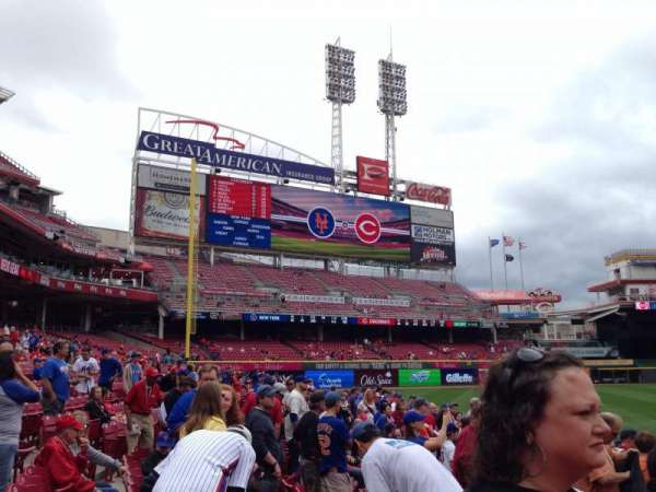 Great American Ball Park, section: 115, row: H, seat: 12