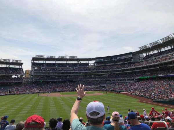 Nationals Park, section: 102, row: Y, seat: 1