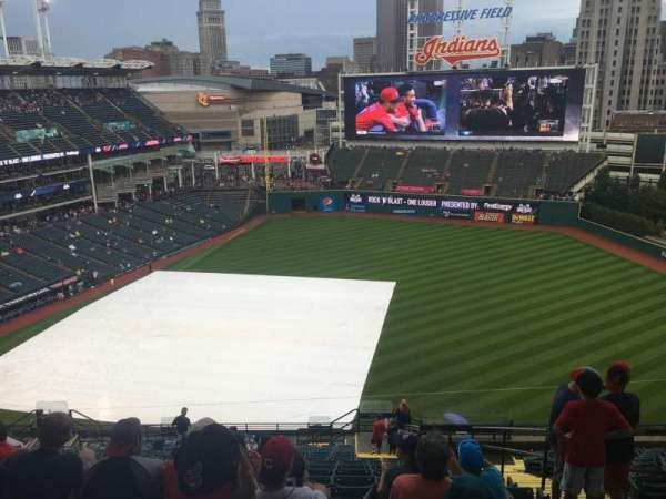 Progressive Field, section: 434, row: D, seat: 5-8