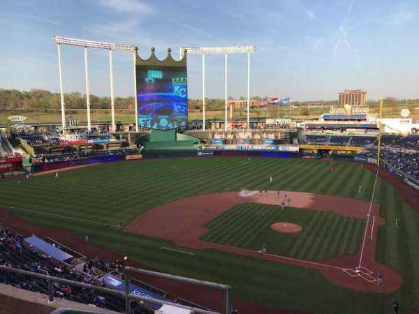 Kauffman Stadium, section: 415, row: D, seat: 2