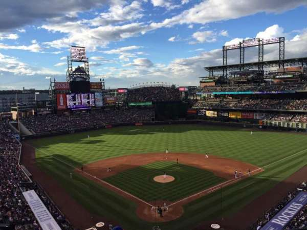 Coors Field, section: L330, row: 5, seat: 9