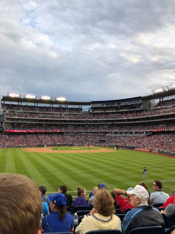 Nationals Park, section: 101, row: U, seat: 6
