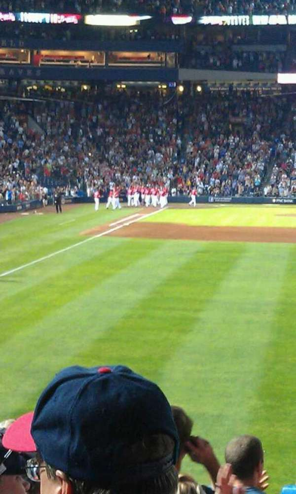 Turner Field, section: 135R, row: 21, seat: 6