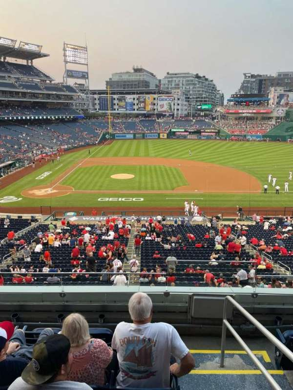 Nationals Park, section: 218, row: E, seat: 1