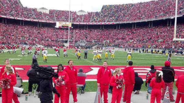 Ohio Stadium, section: 37aa, row: 1, seat: 8