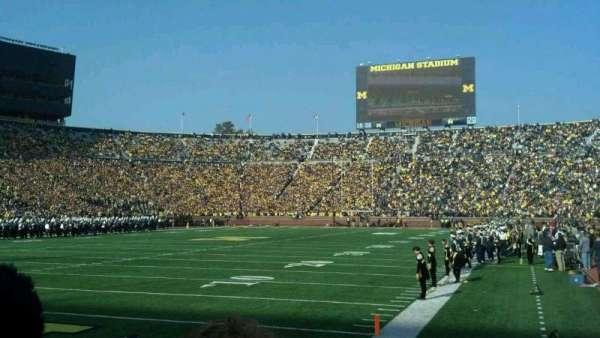 Michigan Stadium, section: 9, row: 1, seat: 16
