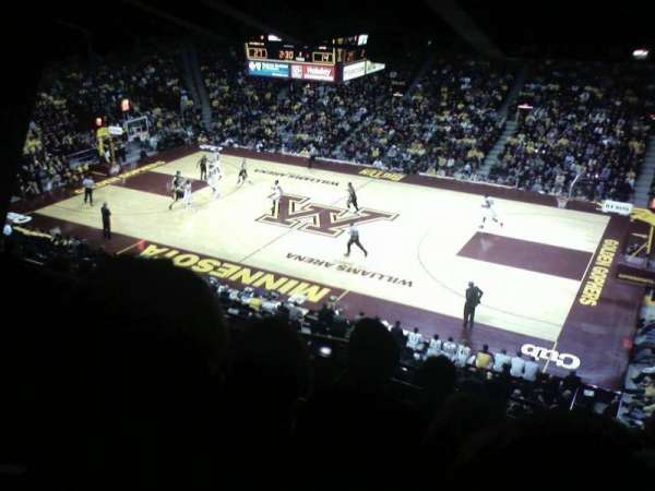 Williams Arena, section: 205, row: 9, seat: 12