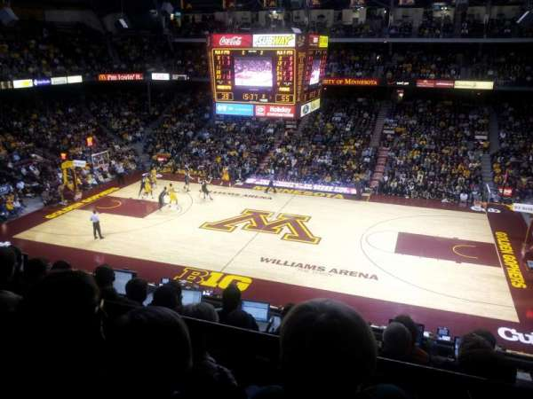 Williams Arena, section: 218, row: 6, seat: 7