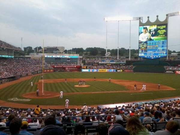 Kauffman Stadium, section: 231, row: FF, seat: 3