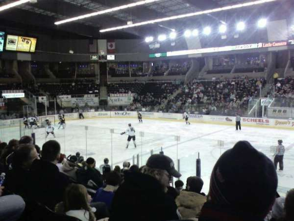 Scheels Arena, section: 101, row: k, seat: 5