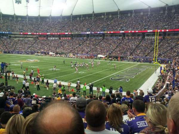 Mall Of America Field, section: 104, row: 18, seat: 14