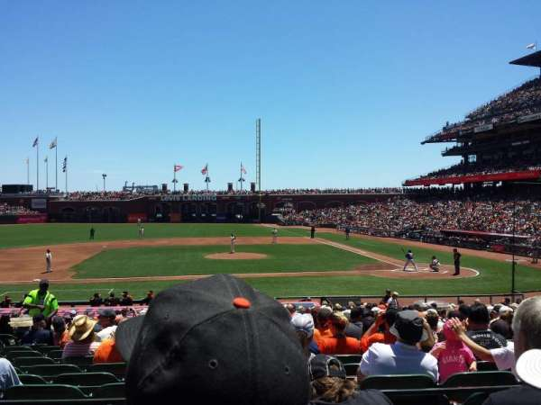 Oracle Park, section: Premium Lower Box 122, row: 25, seat: 16