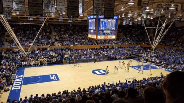 Cameron Indoor Stadium, section: 14, row: M, seat: 18