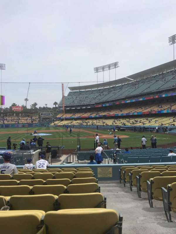 Dodger Stadium, section: 15FD, row: K, seat: 1