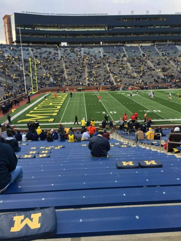 Michigan Stadium, section: 4, row: 36, seat: 7