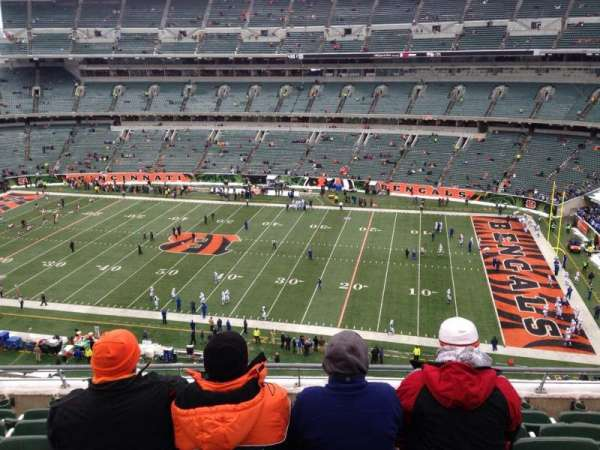 Paul Brown Stadium, section: 307, row: 6, seat: 12