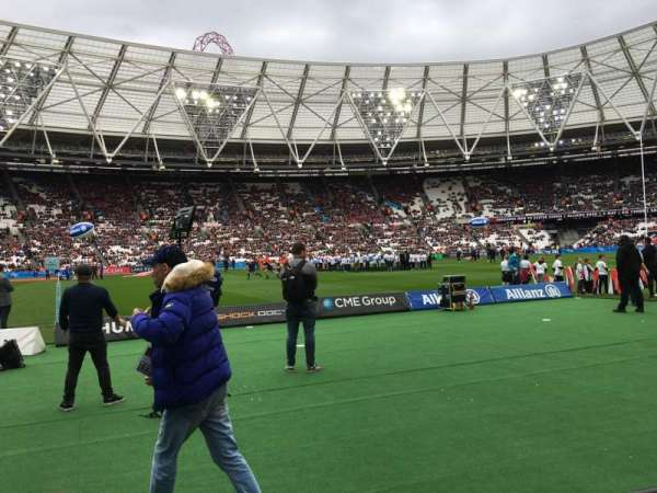 London Stadium, section: 106, row: 2, seat: 356