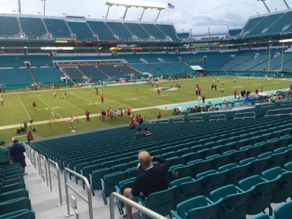 Hard Rock Stadium, section: 122, row: 32, seat: 1