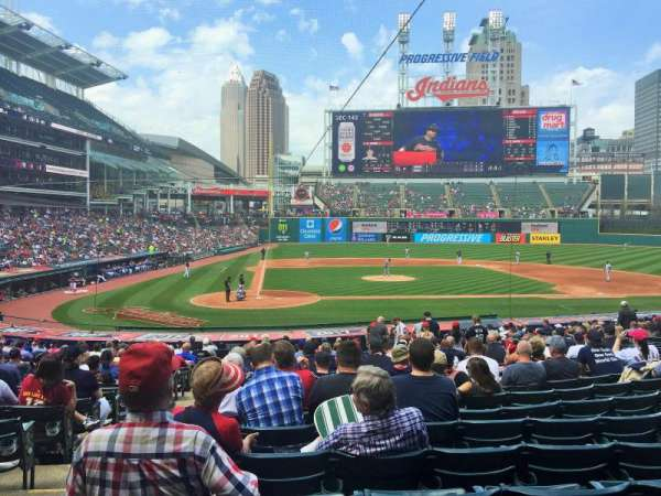 Progressive Field, section: 149, row: EE, seat: 13