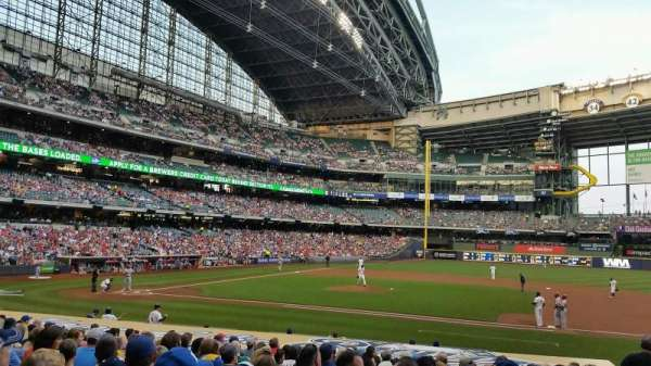 Miller Park, section: 113, row: 19, seat: 19