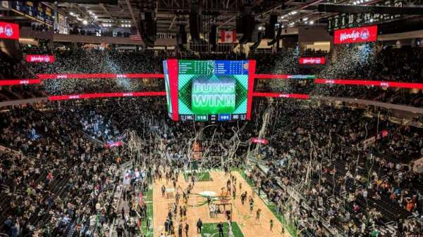 Fiserv Forum, section: 216, row: 3, seat: 3