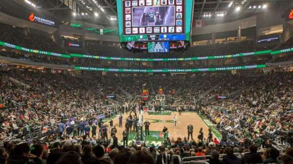 Fiserv Forum, section: 112, row: 13, seat: 1