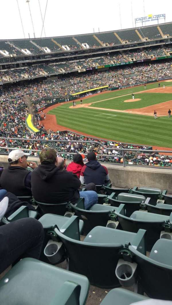 Oakland Alameda Coliseum, section: 207, row: 6, seat: 8