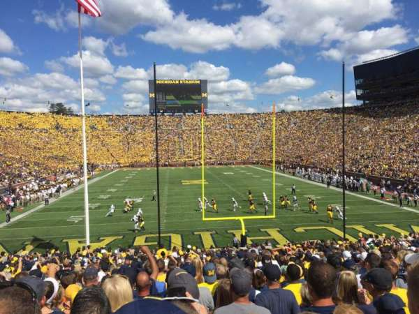 Michigan Stadium, section: 12, row: 34, seat: 1