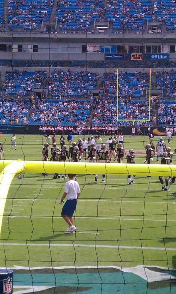 Bank of America Stadium, section: 101, row: 3, seat: 15