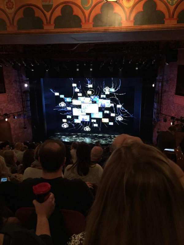 August Wilson Theatre, section: Mezzanine C, row: M, seat: 101