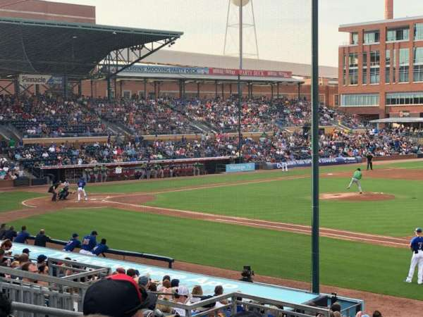 Durham Bulls Athletic Park, section: 212, row: Q, seat: 6