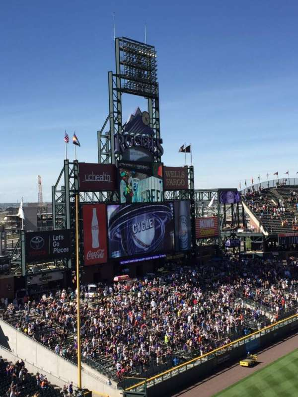 Coors Field, section: L343, row: 2, seat: 8