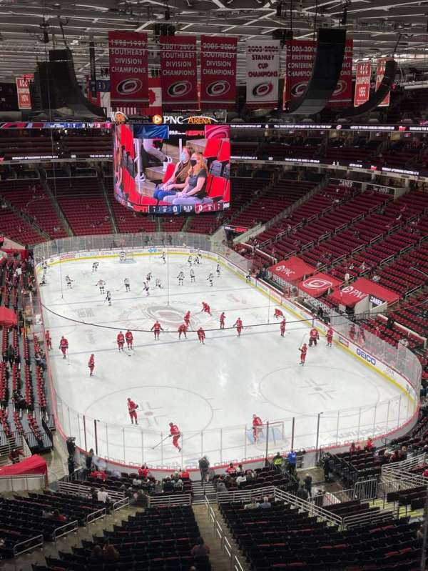 PNC Arena, section: 315, row: A, seat: 8
