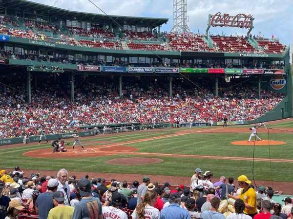 Fenway Park, section: Loge Box 114, row: GG, seat: 1