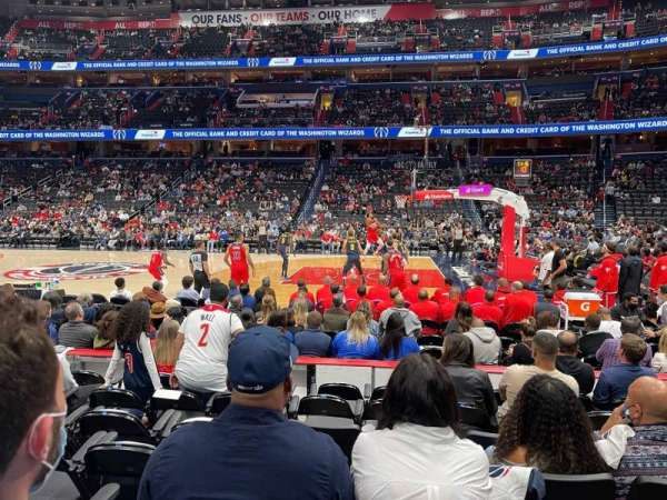 Capital One Arena, section: 101, row: 5, seat: 11