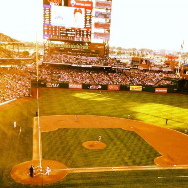 Citizens Bank Park, section: 317, row: 1, seat: 7
