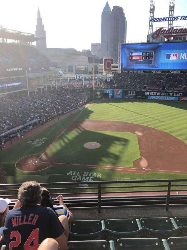Progressive Field, section: 446, row: D, seat: 6