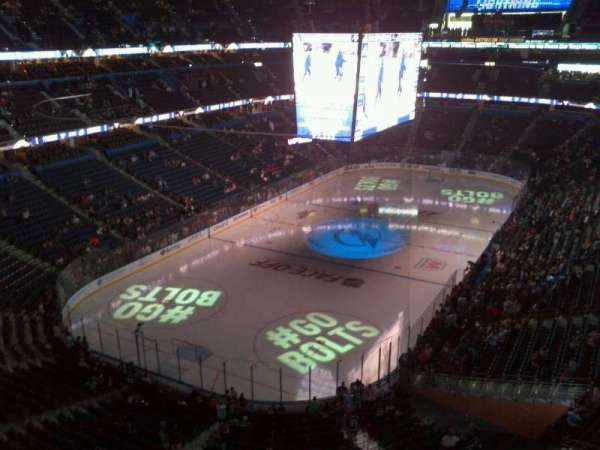 Amalie Arena, section: 306, row: C, seat: 9
