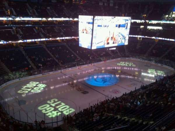 Amalie Arena, section: 305, row: C, seat: 9