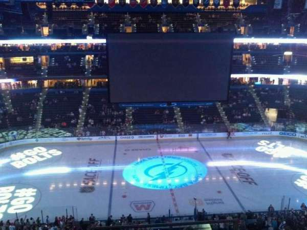 Amalie Arena, section: 301, row: C, seat: 12