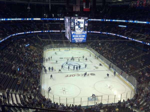 Amalie Arena, section: 325, row: C, seat: 12
